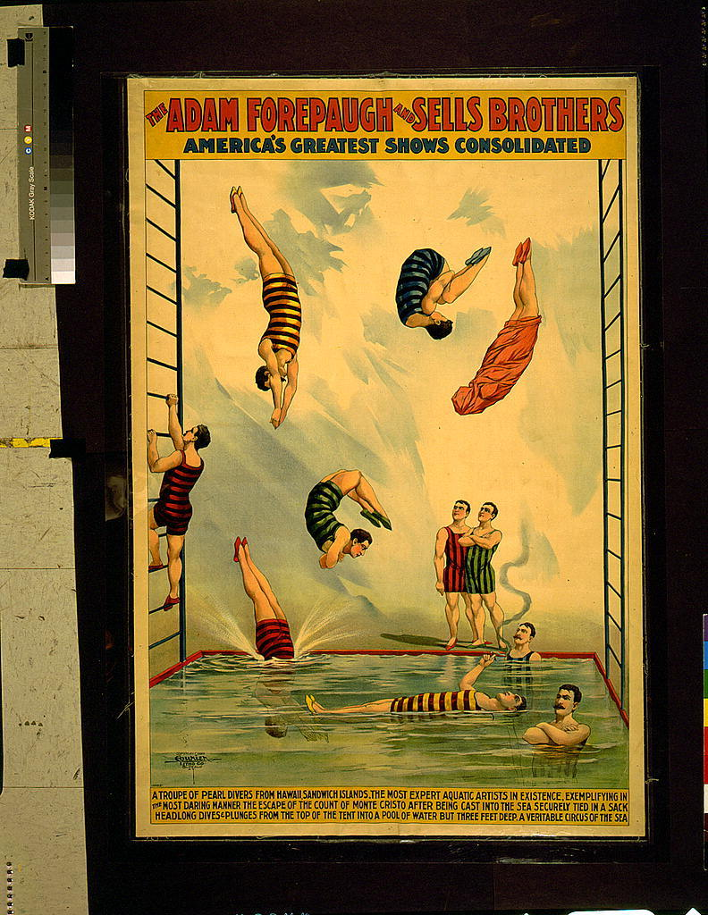 The Adam Forepaugh and Sells Brothers America's greatest shows consolidated--A troupe of pearl divers from Hawaii, Sandwich Islands ... A veritable circus of the sea