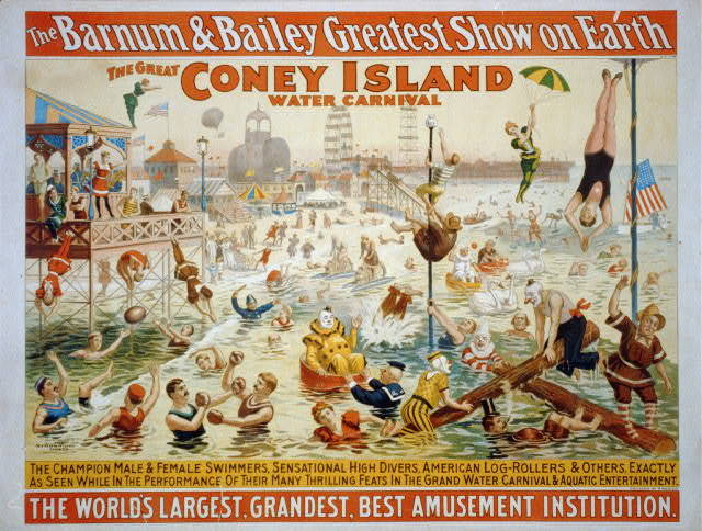 The Barnum & Bailey Greatest Show on Earth The Great Coney Island Water Carnival.
