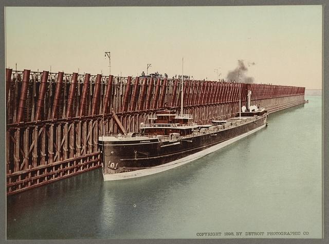 The Escanaba ore docks
