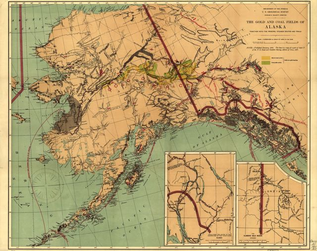 The gold and coal fields of Alaska : together with the principal steamer routes and trails /
