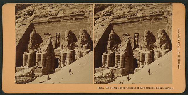 The great rock temple of Abu-Simbel, Nubia, Egypt