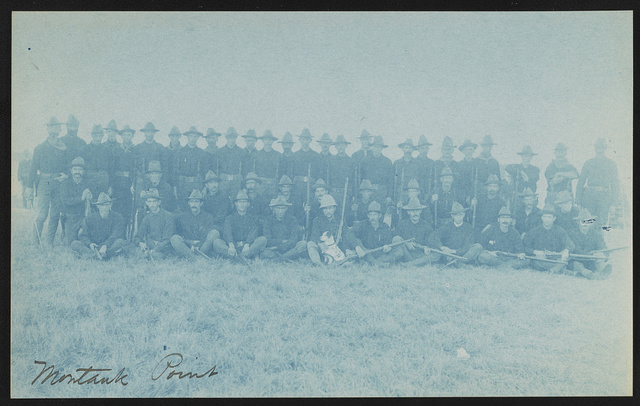 [Theodore Roosevelt's Rough Riders, Company A, at military camp, Montauk Point, New York]