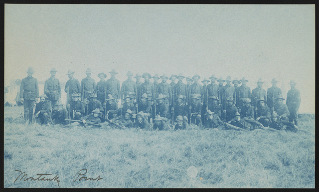 [Theodore Roosevelt's Rough Riders, Company C, at military camp, Montauk Point, New York]
