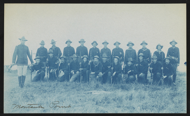 [Theodore Roosevelt's Rough Riders, Company F, at military camp, Montauk Point, New York]
