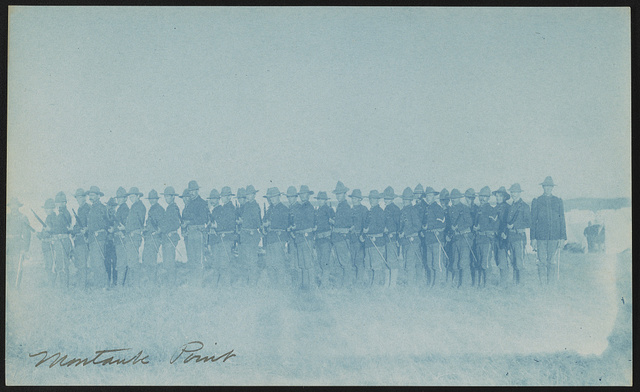 [Theodore Roosevelt's Rough Riders, Company K, at military camp, Montauk Point, New York]
