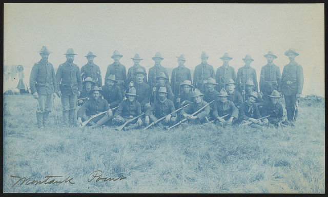 [Theodore Roosevelt's Rough Riders, Company L, at military camp, Montauk Point, New York]