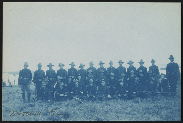 [Theodore Roosevelt's Rough Riders, Company M, at military camp, Montauk Point, New York]