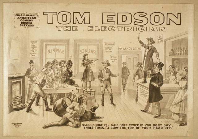 Tom Edson, The electrician Chas. E. Blaney's American comedy drama success.