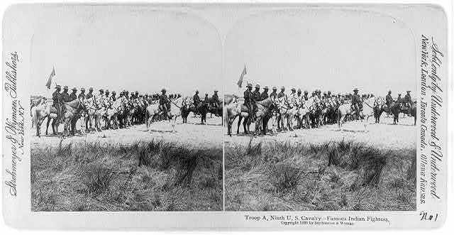 Troop A, Ninth U.S. Cavalry - famous Indian fighters