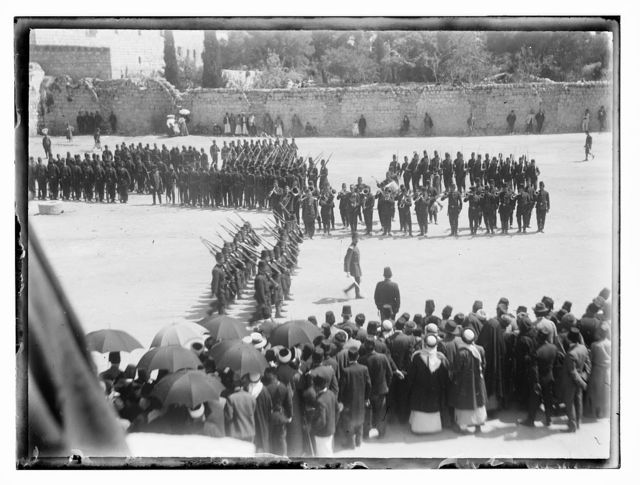 Turk mili. [i.e., military] WWI. Turk army on parade