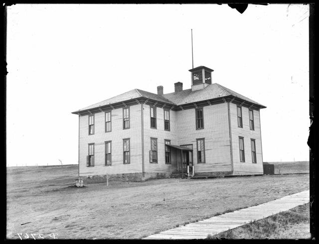 Two-story school house, Ansley, Custer County, Nebraska.