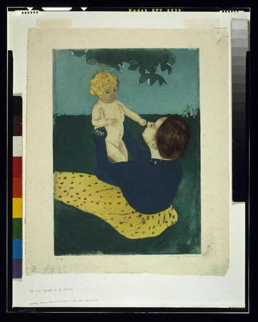 [Under the horse chestnut tree] / Mary Cassatt.
