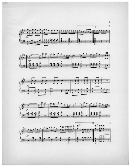 Under the starry banner march and two step, op. 14