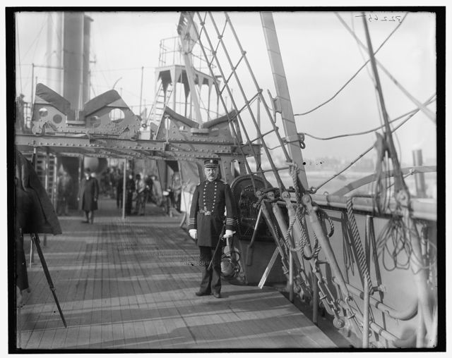 [U.S.S. Chicago, going into commission, December 1, 1898, the Captain]