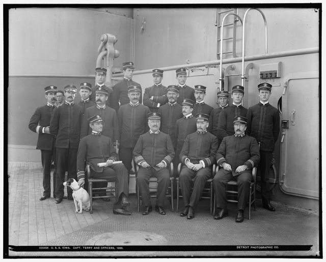 U.S.S. Iowa, Capt. Terry and officers