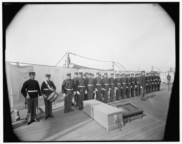 [U.S.S. Iowa, Marine Guard]