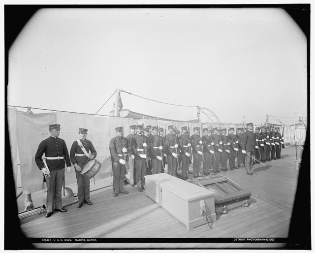 U.S.S. Iowa, Marine guard