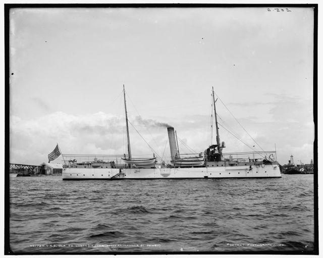 U.S.S. Isla de Luzon, cruiser taken at Manilla [i.e. Manila] by Dewey