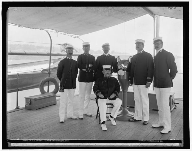 U.S.S. Nahant, captain and officers, 1898