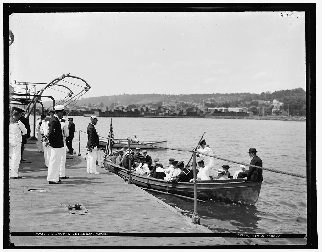 U.S.S. Nahant, visitors going ashore
