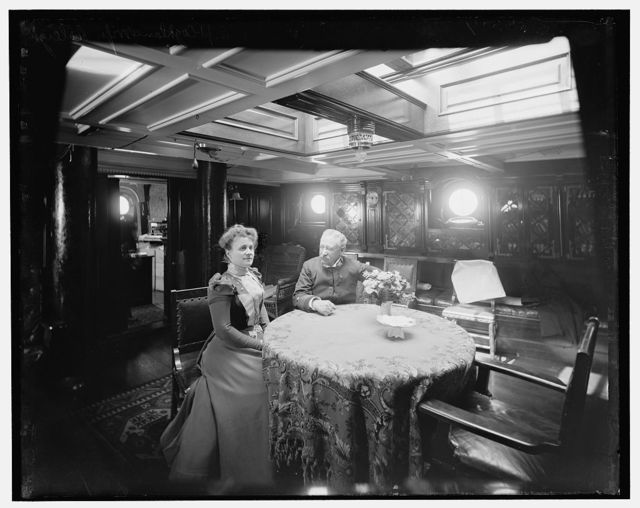 [U.S.S. Raleigh, Capt. and Mrs. Coghlan]