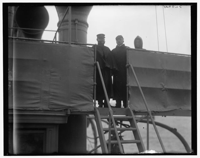 [U.S.S. Raleigh, Capt. Coghlan and Executive Officer Phelps]