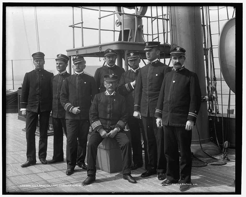 U.S.S. Raleigh, Capt. Coghlan and officers