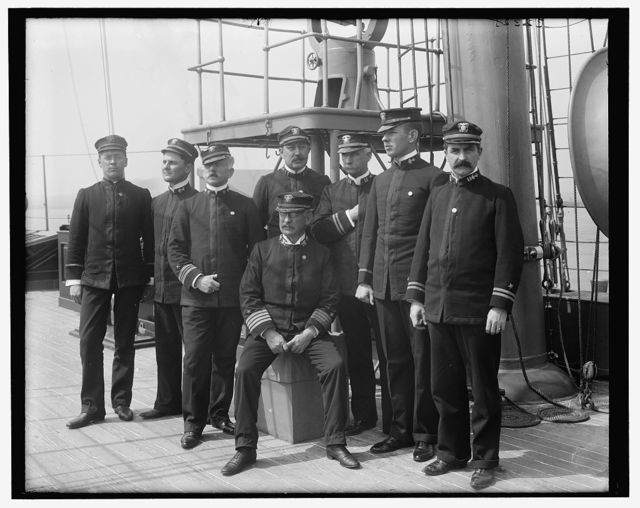 [U.S.S. Raleigh, Capt. Coghlan and officers]