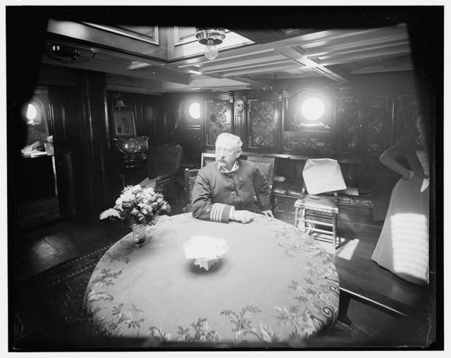 [U.S.S. Raleigh, Capt. Coghlan in his cabin