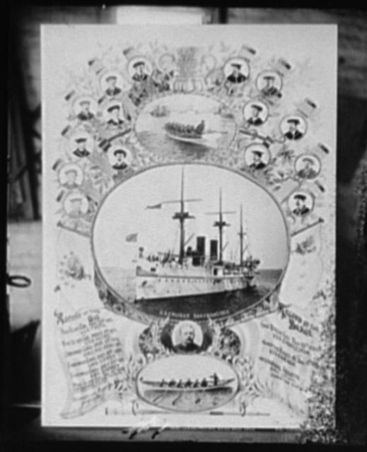 U.S.S. San Francisco. Gig and barge crews