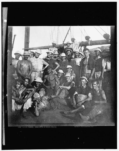 U.S.S. Yankee, crew after 48 hours coaling