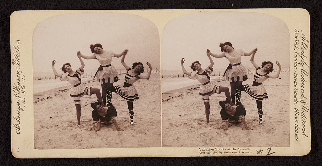 Vacation sports at the seaside