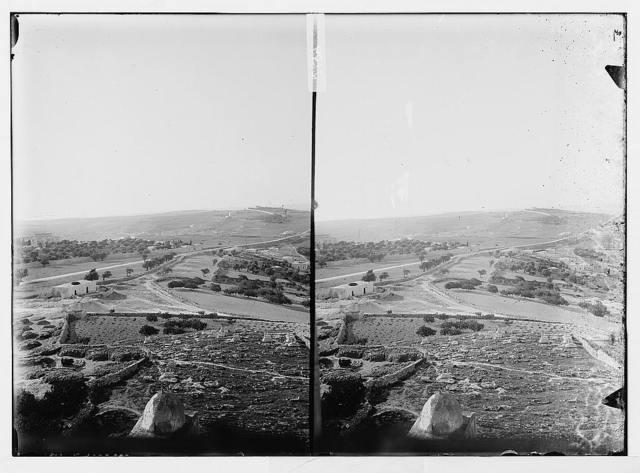 [View along crest of Mount of Olives, looking east towards Hebrew University, Jerusalem]
