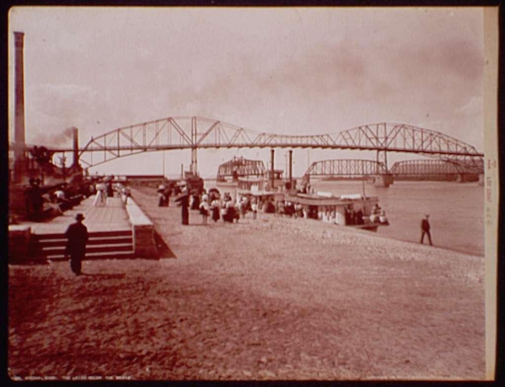 Winona, Minn., the levee below the bridge