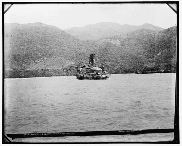 Wreck of the Oquendo, Battle of Santiago, 1898