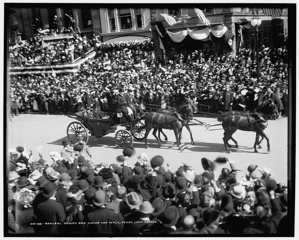 Admiral Dewey and Mayor Van Wyck, Dewey Land Parade
