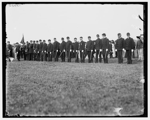 [Admiral Walker and staff at Fishers Island]