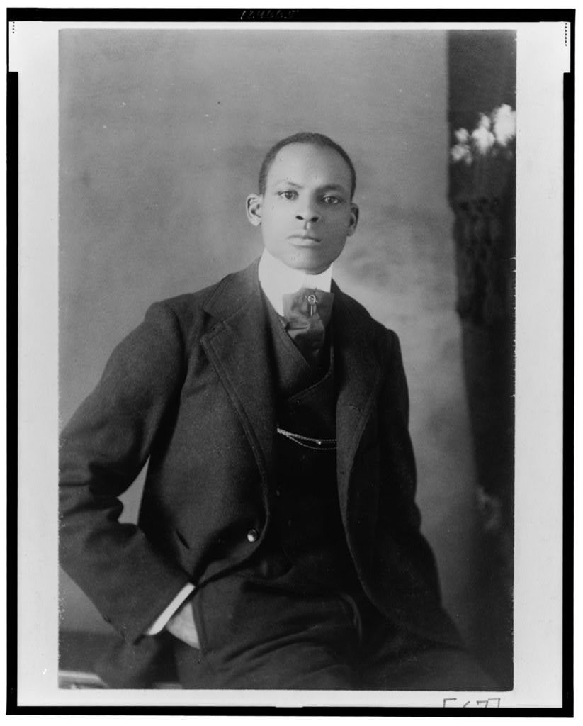 [African American man, half-length portrait, seated, facing front]
