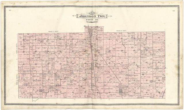An illustrated standard atlas of Gibson County, Indiana /