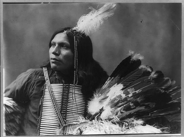 [Battle, no. 2, half-length portrait, facing left; holding feather headdress]