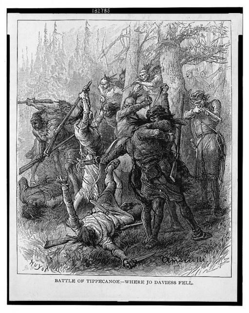 Battle of Tippecanoe - where Jo Daviess fell / Huyot ; Andriotti(?).