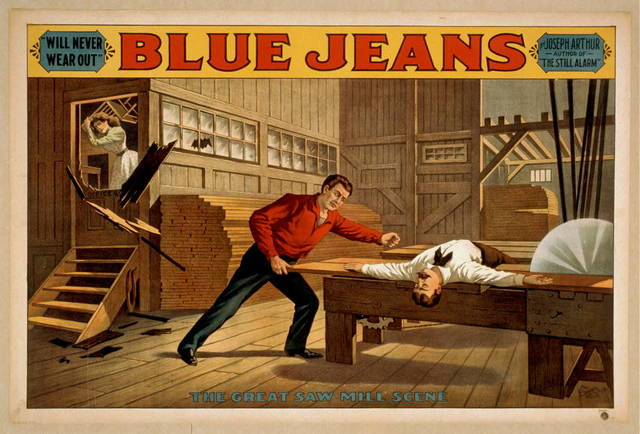 "Blue jeans ""will never wear out"" : by Joseph Arthur, author of ""The still alarm."""