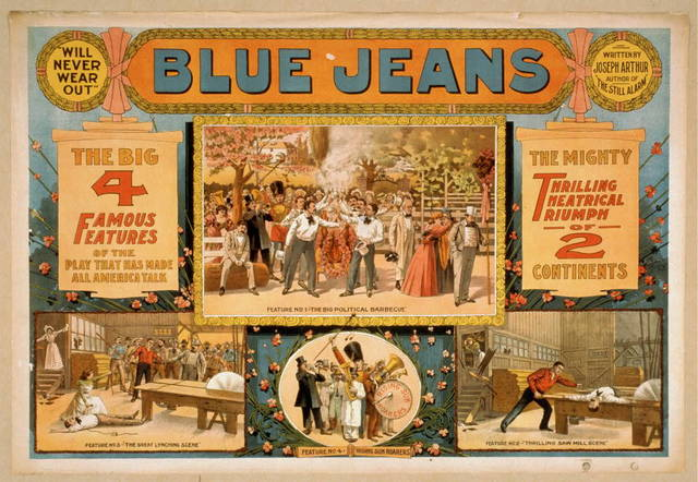 "Blue jeans ""will never wear out"" : written by Joseph Arthur, author of ""The still alarm."""