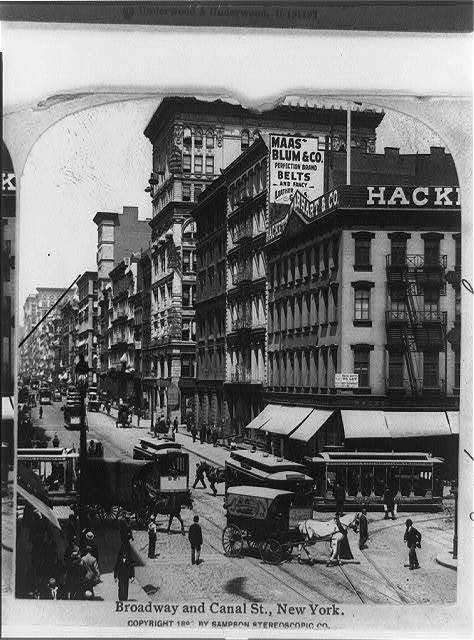 Broadway and Canal St., New York