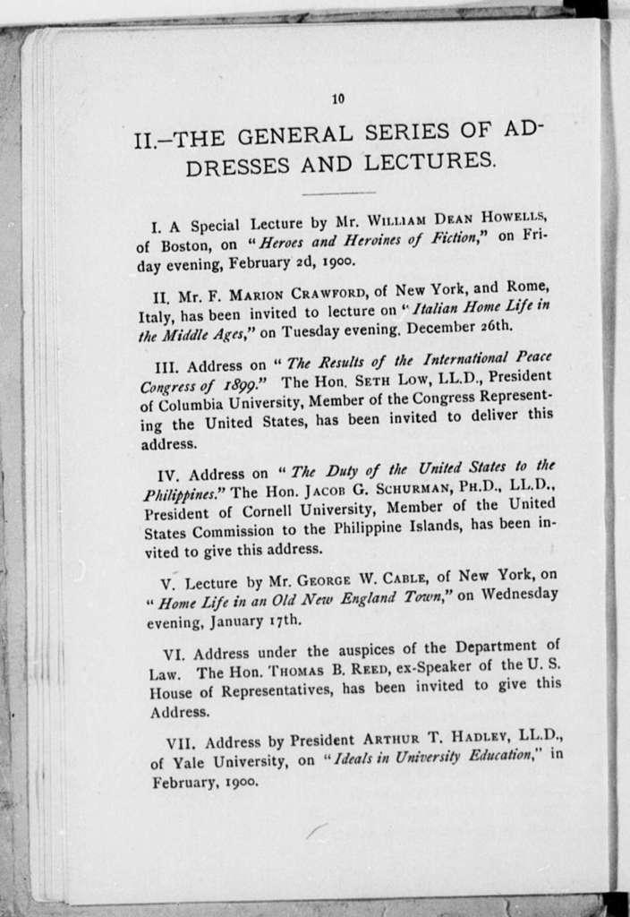 Brooklyn Institute of Arts and Sciences, Brooklyn, N.Y., 1899-1900