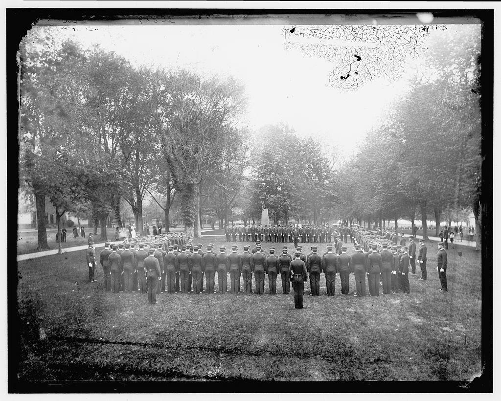 Cadets at drill, Annapolis
