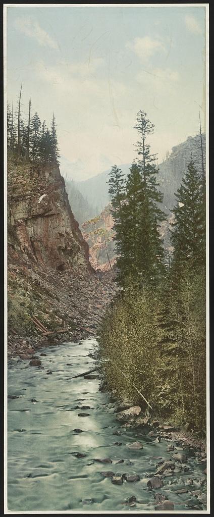 Canyon of Eagle River--west entrance, Colorado