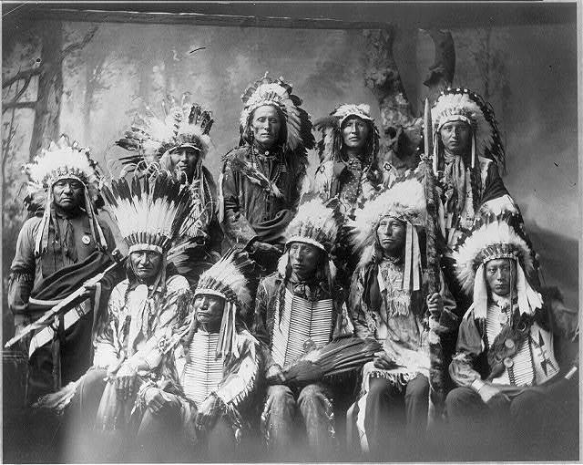 [Chief Red Cloud and chiefs (group of 10)]