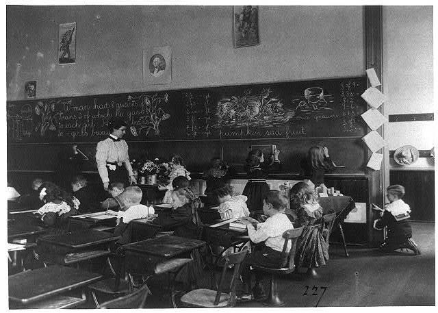 [Children in school in Washington, D.C. - studying mathematics]