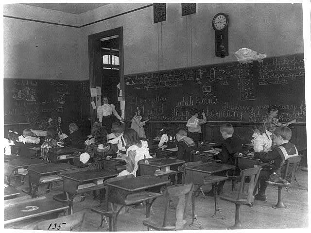 [Classroom scenes in Washington, D.C. public schools: general classroom scenes, 1st Division]